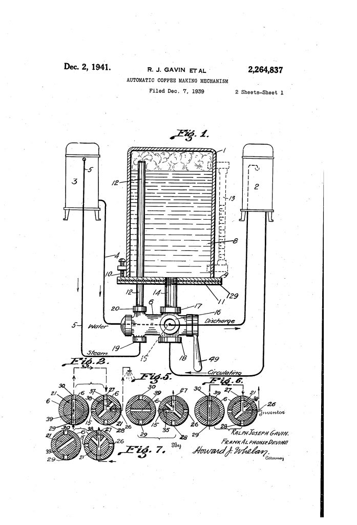 I love that my great-grandfather invented a coffee machine.